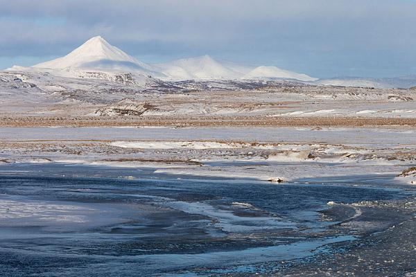 De vulkaan Baula op IJsland