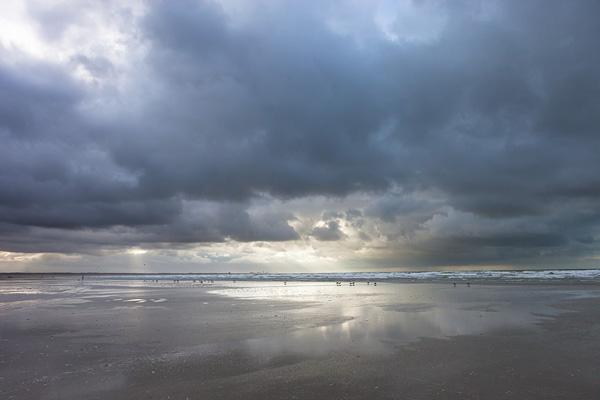 Landschapsfoto van het strand bij IJmuiden