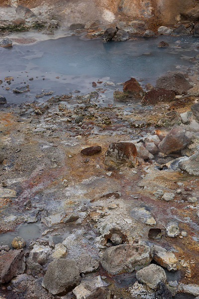 Het geothermische veld Seltun bij Kleivervatn