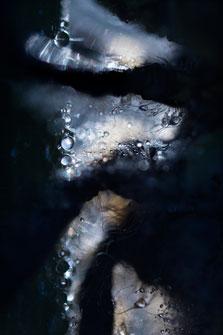 Abstracte close-up van een glassnijder